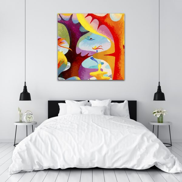 Kartina-Abstract-orange-Square
