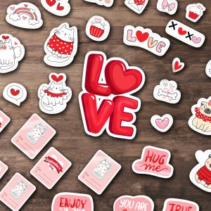 Комплект стикери за Свети Валентин
