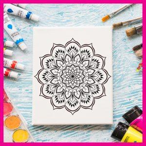 Картина за оцветяване с мандала