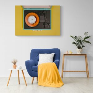 Картина винтидж с грамофон