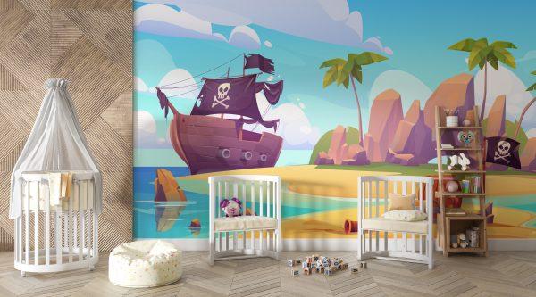 piratski-fototapet-za-detska-staya