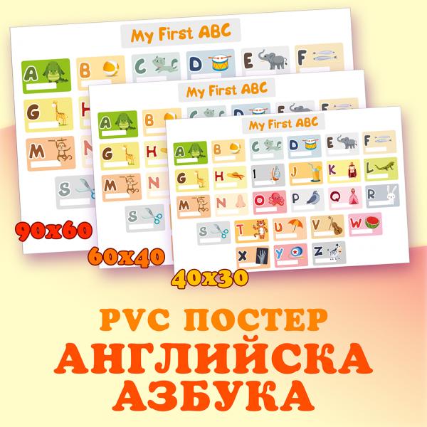 Английска азбука PVC poster