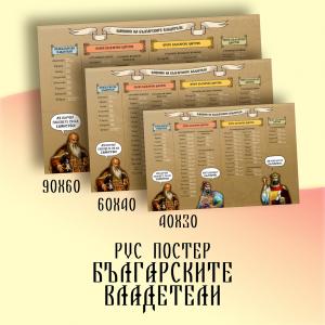 PVC - poster хронолофично подредени български царе